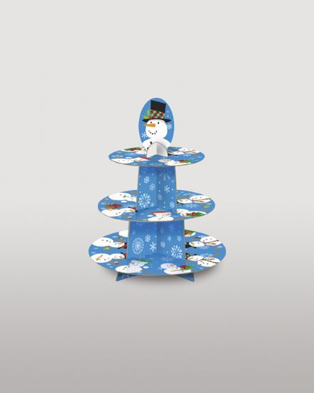 Christmas Snowman Cup Cake Tree Stand